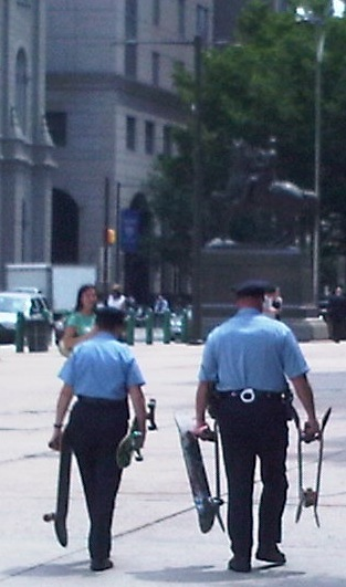 Next to Philadelphia City Hall, 11:38 a.m., June 22, 2010