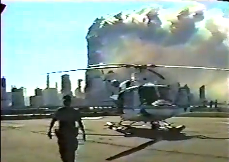 Video of the WTC Collapse from an NYC helicopter
