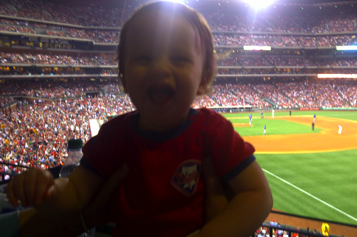 Louden went to a Phillies/Cubs game