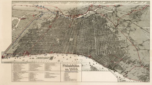 Here&#8217;s A Cool Map Of Philly From 1887-8