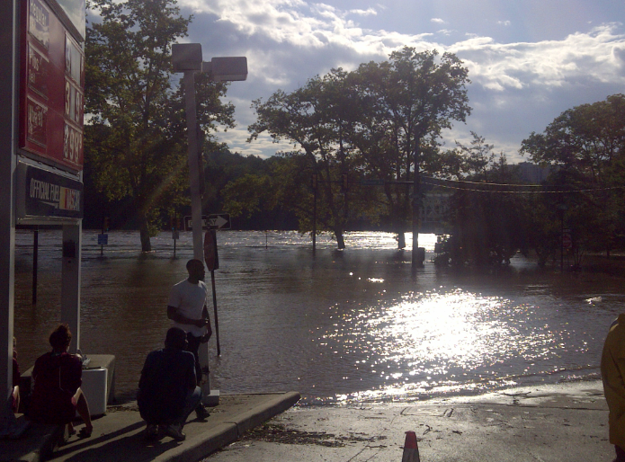 A couple pictures from Midvale and Kelly during Hurricane Irene flooding