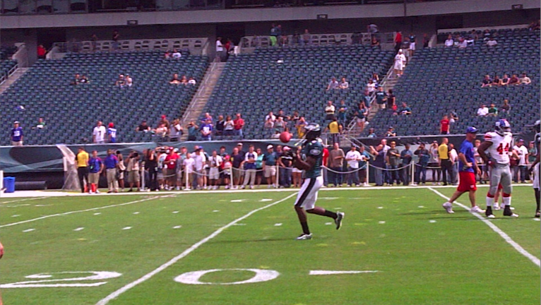 From the Eagles sideline, pregame