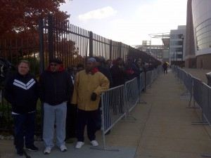 Fans started lining up around 8 a.m.