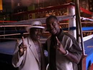 Joe and Marvis Frazier at Frazier's North Philly gym, 2009