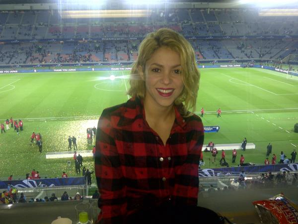 Here's A Lovely Picture Of Shakira After Barcelona Won The Club World Cup