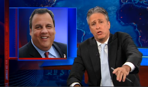 Jon Stewart Discusses Obese-American Chris Christie's Objection To Gay Marriage