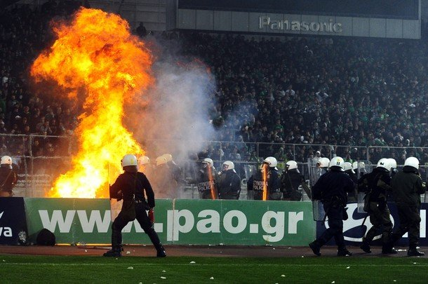 A Hooligan Riot In Greece, And A Sweet Goal In Spain