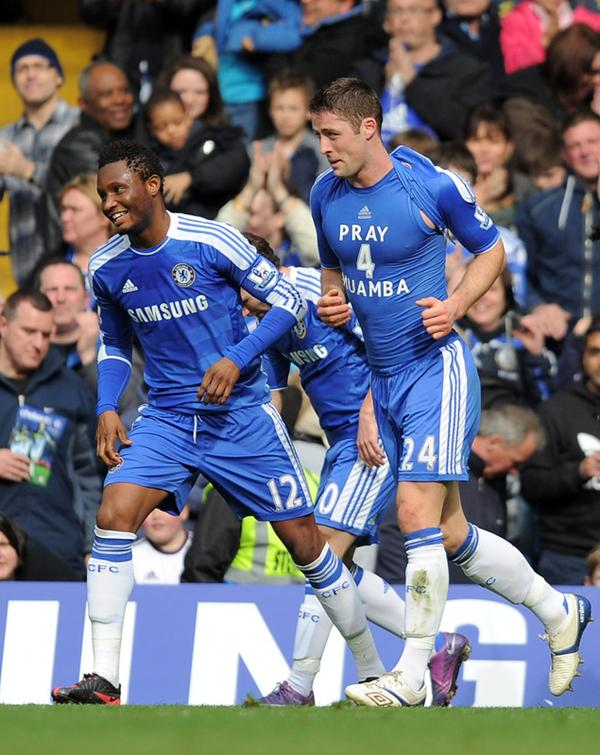 "Gary Cahill Scores For Chelsea, Displays ""Pray 4 Muamba"" Shirt"