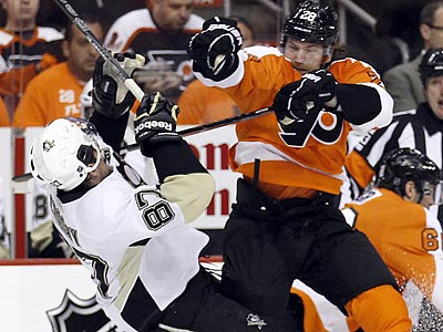 Let's Watch Claude Giroux's Game Six Hit On Sidney Crosby Over And Over And Over …
