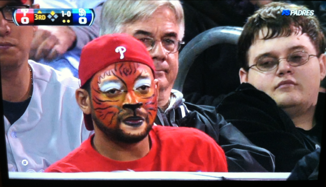 Can Anyone Explain Phillies-Fan Bro Here Who Painted His Face Like A Lion?