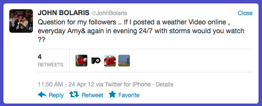 Your @JohnBolaris Tweet Of The Week (Or Thereabouts)*