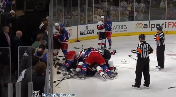 Here's The Brawl From Last Night's Rangers/Senators Game