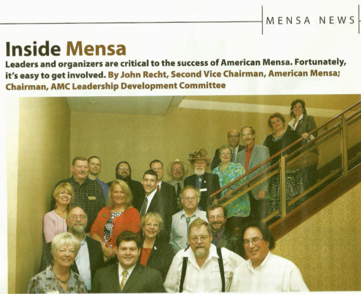 So, Yeah, There's A Dude In The April MENSA Magazine Who Totally Freaked Me Out