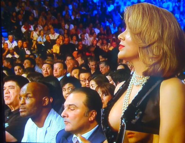 Here's A Picture Of Bernard Hopkins And The Side Of Floyd Mayweather's Girlfriend's Boob