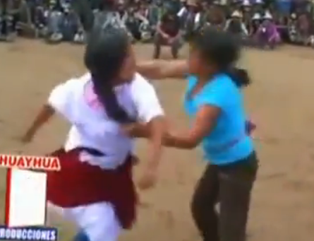 Holy Shit There's A South American Festival With Housewife Bare-Knuckle Brawling