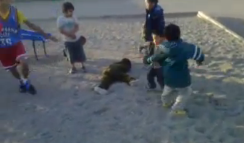 Oh, What The Hell, Let's Watch A Kindergartener Get Knocked Out In The Sandbox