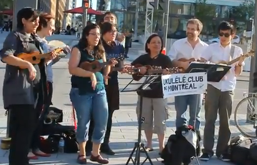 This Is The Ukulele Club Of Montreal Covering 'Hallejuah'