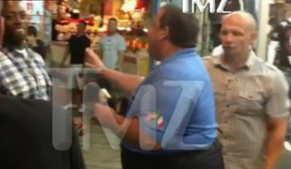Watch A Fat Guy With Ice Cream (And Bodyguards) Yell At Someone On The Boardwalk
