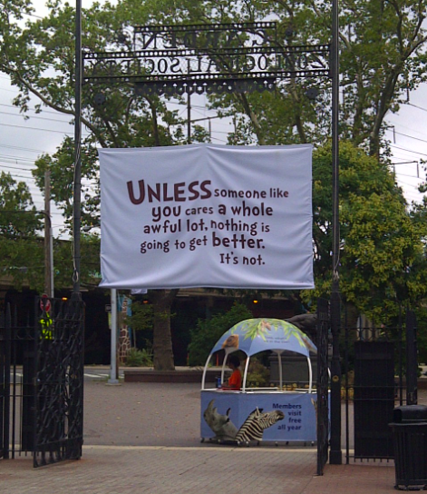 A Wonderful Message As You Leave The Philadelphia Zoo