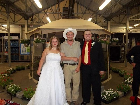 And Now, A Wedding Picture Taken In An Arkansas Walmart