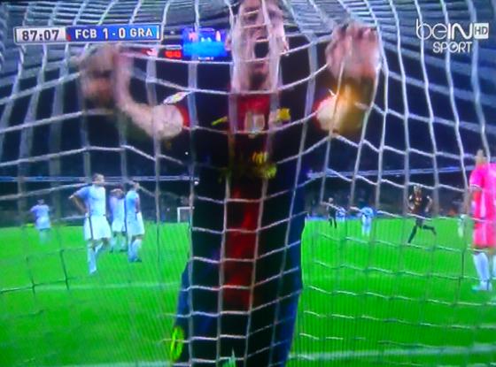 Here's a Great Shot of Lionel Messi After Xavi's Decisive Goal vs. Granada