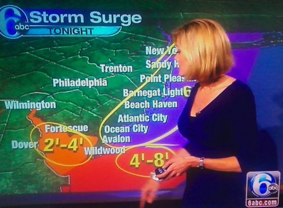 Cecily Tynan And Her Massive Hurricane Sandy Telestrator Dong