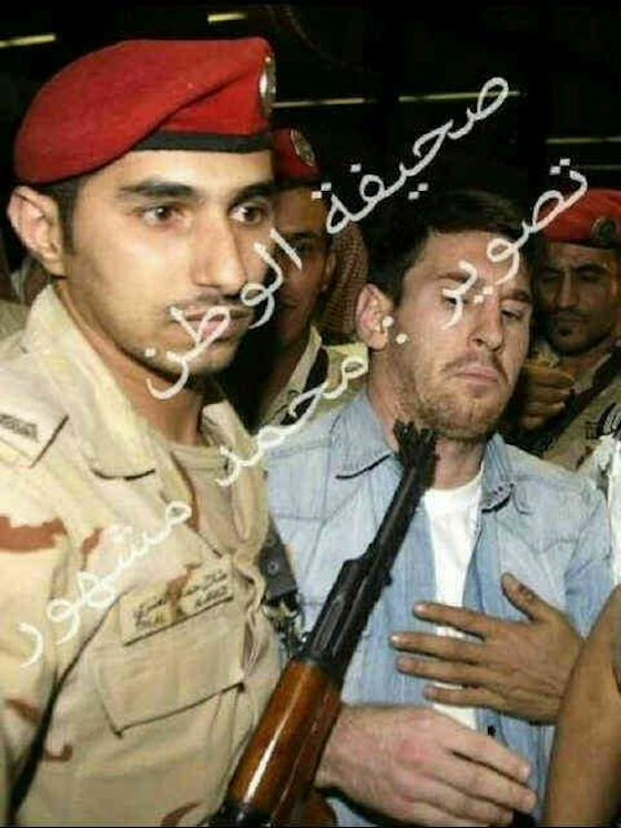 And Then There Was The Time An Assault Rifle Was Pointed At Leo Messi's Face In Saudi Arabia