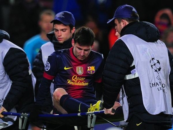 Messi Injured One-Goal Shy Of Goal-Scoring Record [Video]