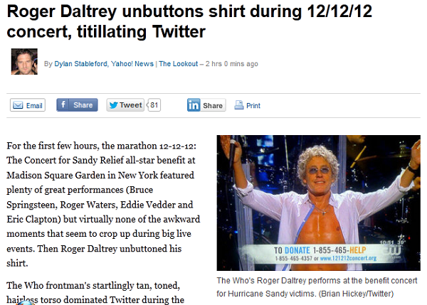 Why Yes, That Is My Photo On A Yahoo! Story About Roger Daltrey's Tangelo Hue