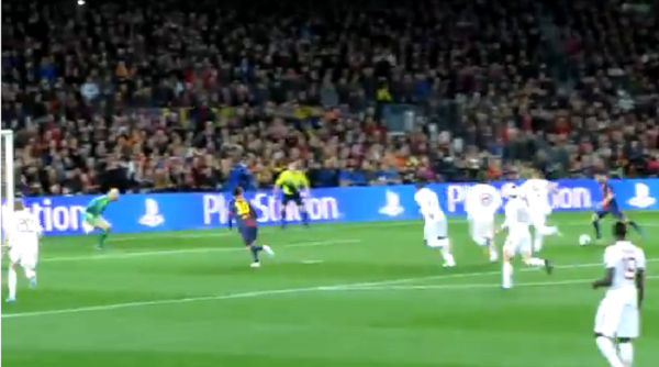 Now You Can See What David Villa's Goal Vs. A.C. Milan Looked Like From The Camp Nou Stands