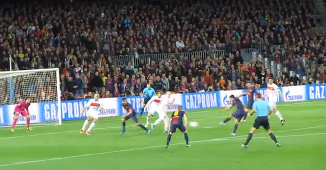 Here's What Pedro's Goal Vs. PSG Looked Like From The Camp Nou Stands