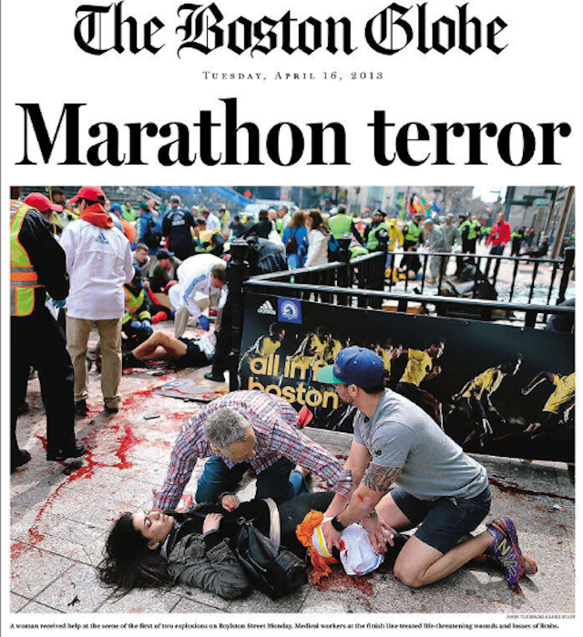The Day After Chaos: Boston Globe's Front Page on April 16, 2013