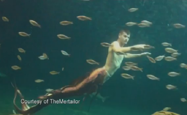 So There's This Guy In Florida Who Pretends He's A Mermaid