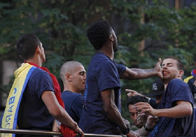 And Then There Was The Time Two Barcelona Players Got In A Fight Atop A Party Bus