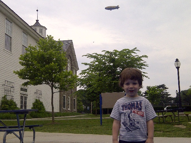 The Goodyear Blimp Traveled Over Louden's Playground On Sunday