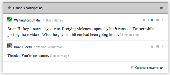 Hey Look, Another Jitbag Wishes I Died Because I Post YouTube Fight Videos On Deadspin