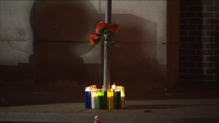 Memorial for Chicago hit-and-run victim Norman Esho (from WGN)