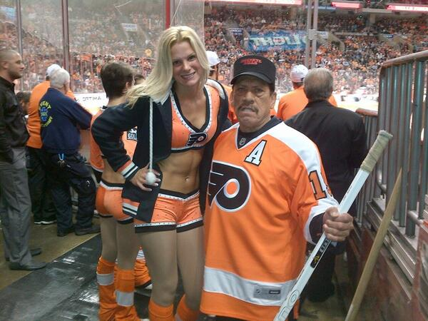 This Is The Best Picture You'll Ever See Of Danny Trejo At A Flyers Game