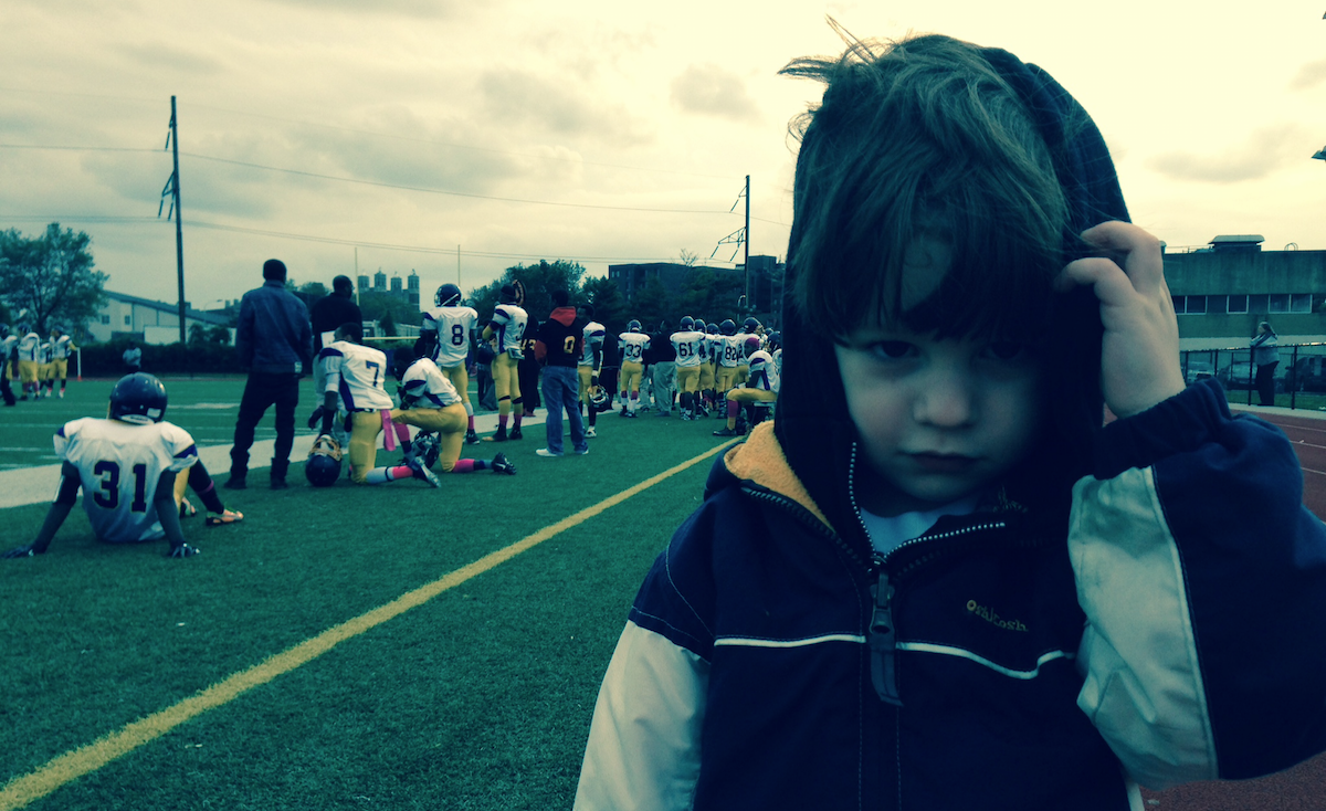 Louden Had Some Great Seats For Saturday's MLK/Overbrook High-School Football Game