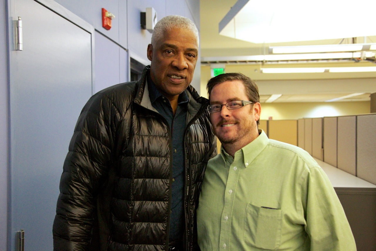 Dr. J Was At WHYY Today And I Fanboyed My Way Into Getting A Picture With Him