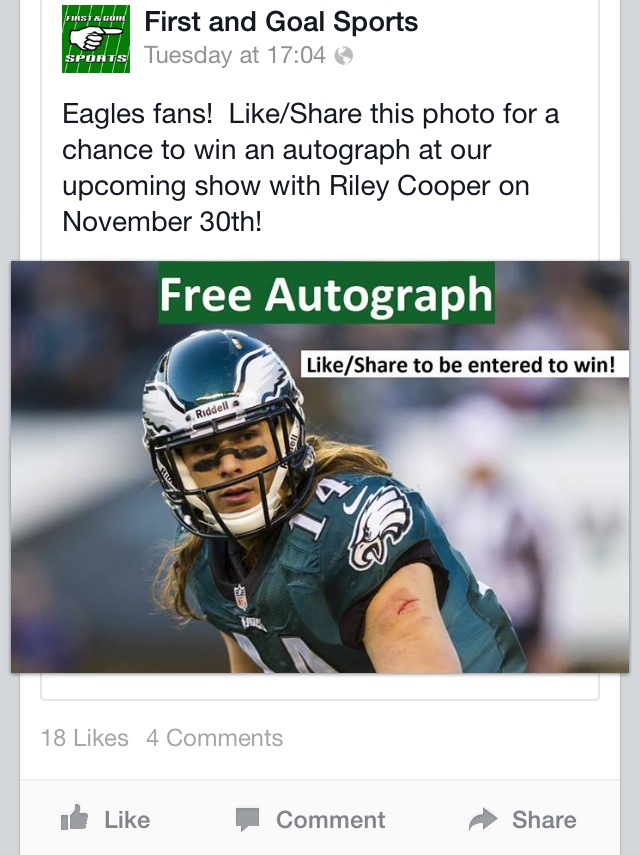 Win A Free Riley Cooper Autograph The Day After Black Friday