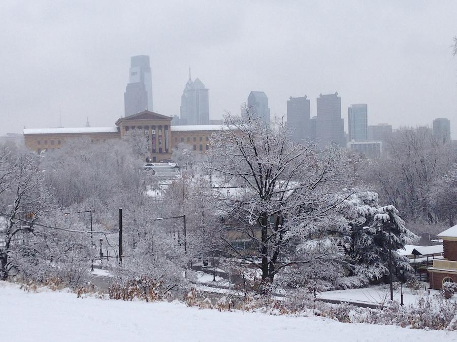 Snow! Snow! Snowadelphia! (And Louden Sledded Like A Big Boy)