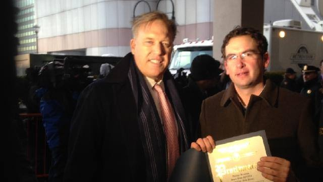 Here's Photos Of John Elway And Peyton Manning Arriving At Their Jersey City Hotel