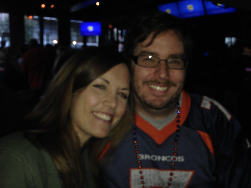 HT's Jessie Magee, who moved to NO in April, stopped by during the Broncos game!