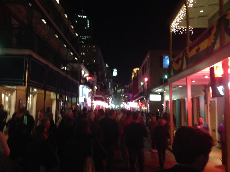 The night one view of the French Quarter