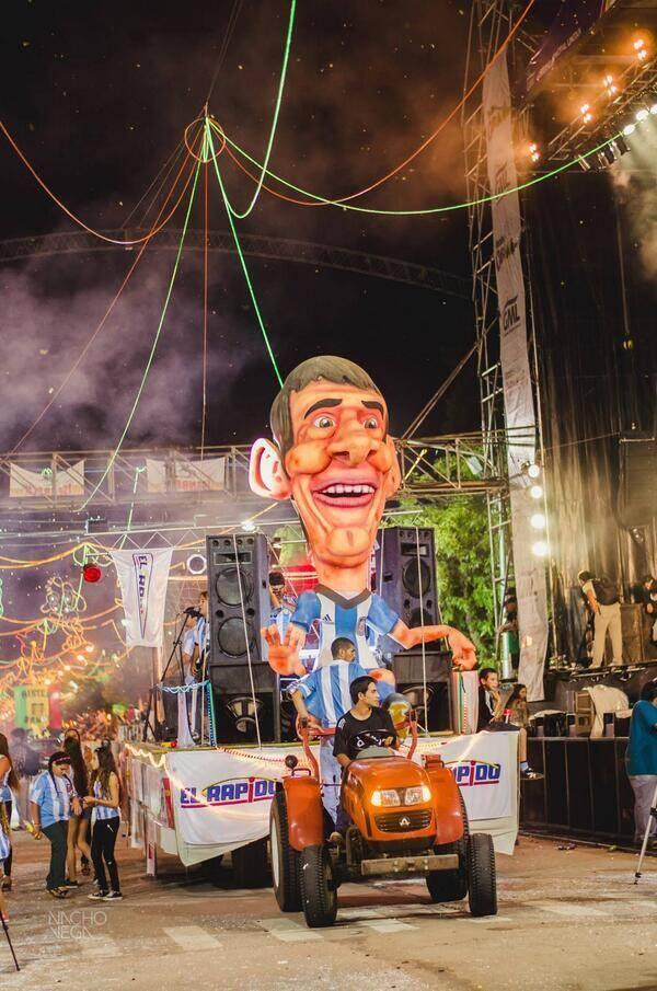 This Lionel Messi Parade Float Is Awesome AND Unsettling