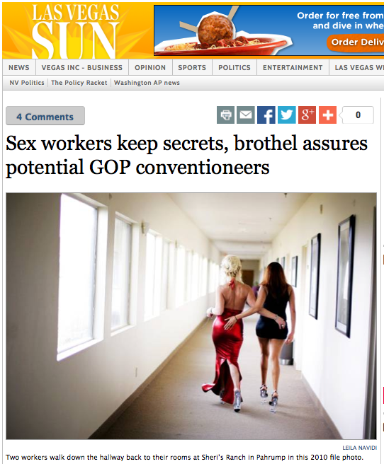 Vegas Pitch For GOP 2016 Convention: Our Paid-Sex Workers Will NOT Rat You Out
