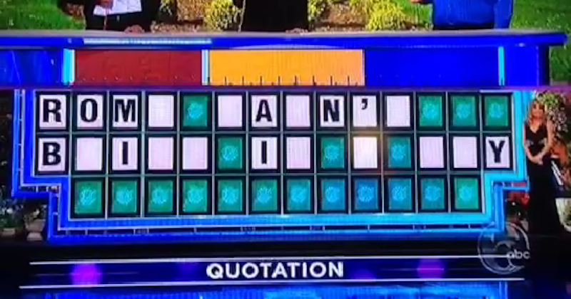 Wheel Of Fortune Contestant Kamiko Channels Travolta In Botching Answer