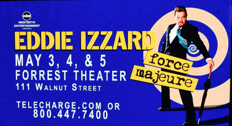 Don't Be Shocked If You See Eddie Izzard Aimlessly Wandering Around An Old City Parking Lot In May