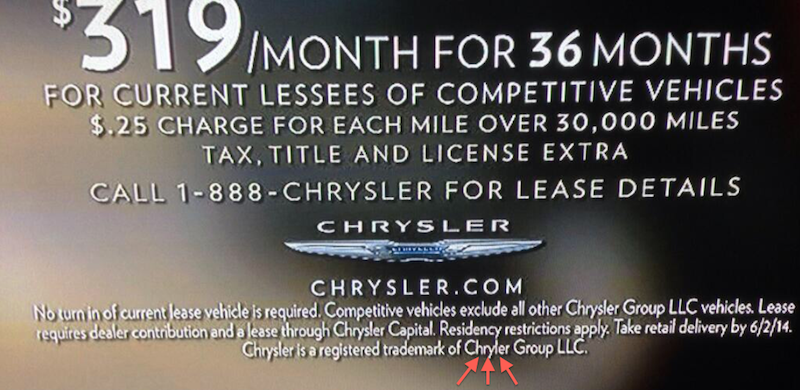 Fact Check: Chrysler Car Commercial's Fine Print